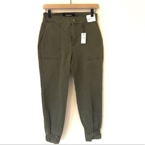 Express Straight Crop High Rise Utility Pants